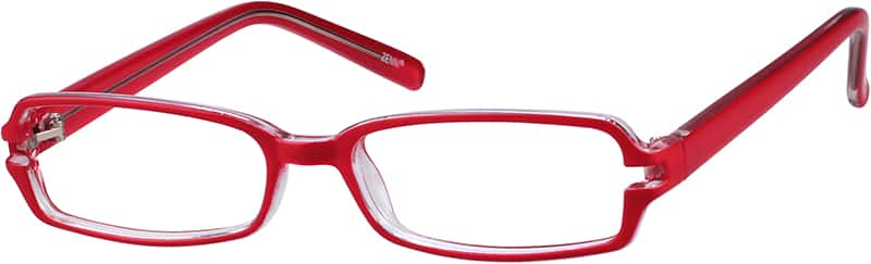 Red 3397 Plastic Full-Rim Frame