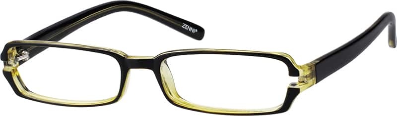 Yellow 3397 Plastic Full-Rim Frame