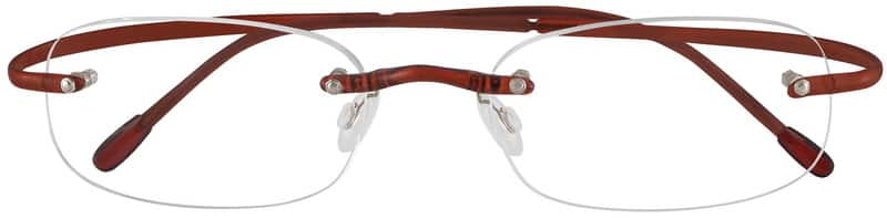 Brown 3411 Rimless Hingeless Flexible (Memory) Plastic
