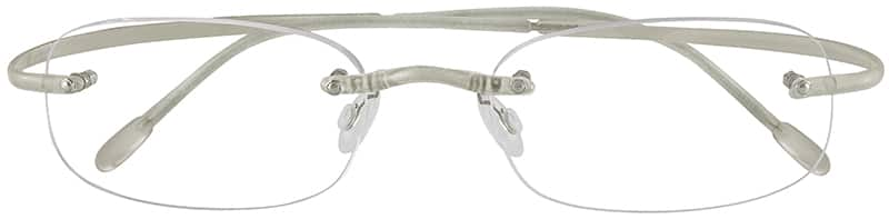 Translucent 3411 Rimless Hingeless Flexible (Memory) Plastic