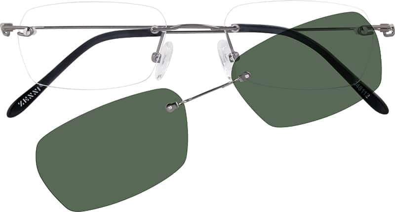 Men Rimless Stainless Steel Eyeglasses #348112