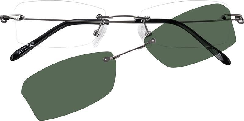 MenRimlessStainless SteelEyeglasses #348212