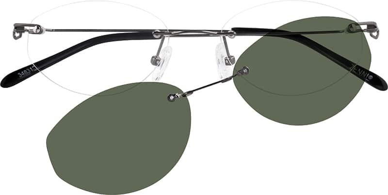 WomenRimlessStainless SteelEyeglasses #348312