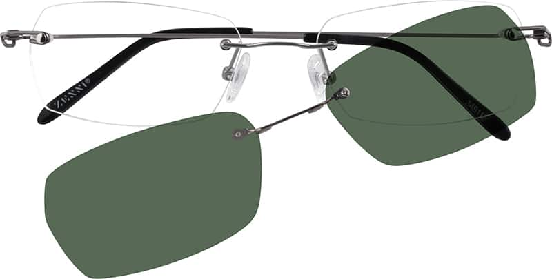 Men Rimless Stainless Steel Eyeglasses #349121