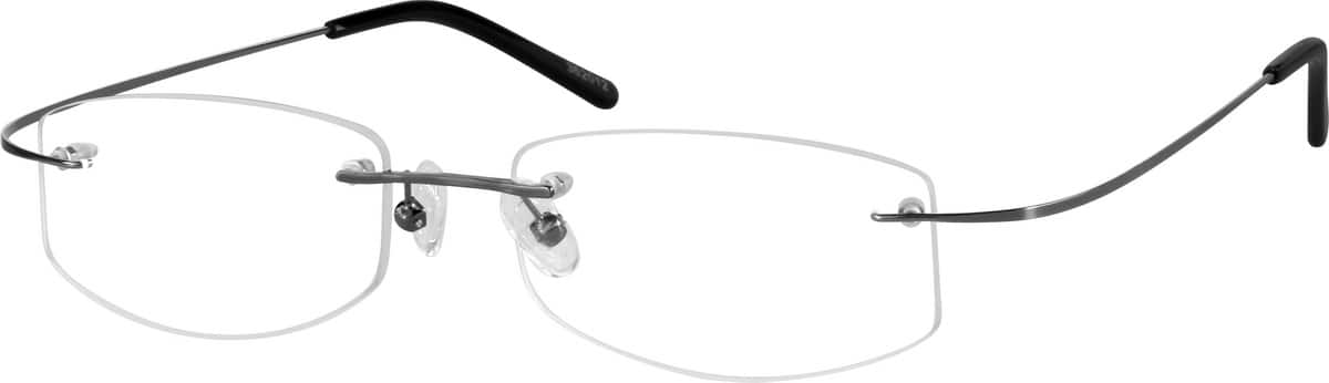 Grey 3620 Rimless Hingeless Stainless Steel