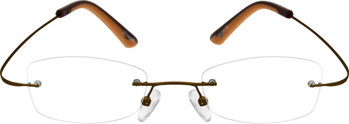 Women Rimless Stainless Steel Eyeglasses #363611