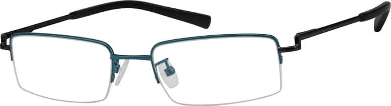 MenHalf RimMetalEyeglasses #364915