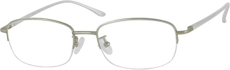 Men Half Rim Aluminum Alloy Eyeglasses #365521