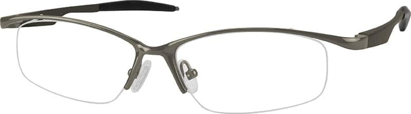 Men Half Rim Aluminum Alloy Eyeglasses #367312