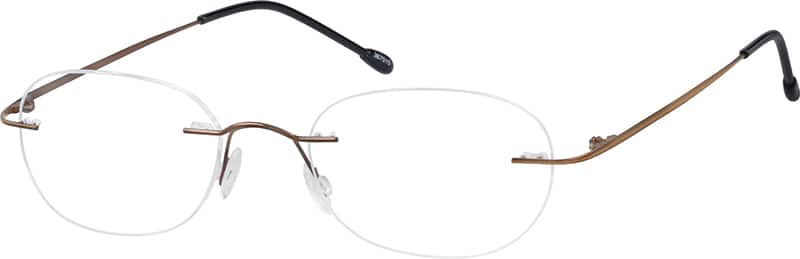 Unisex Rimless Stainless Steel Eyeglasses #367530