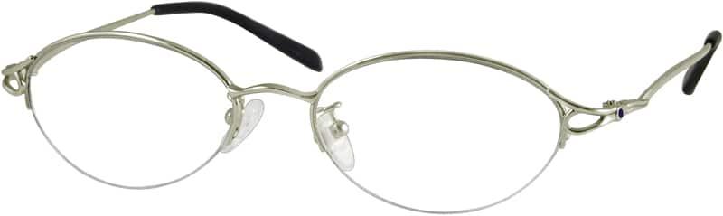 WomenHalf RimTitaniumEyeglasses #371619