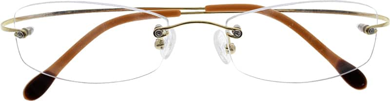Women Rimless Titanium Eyeglasses #372229