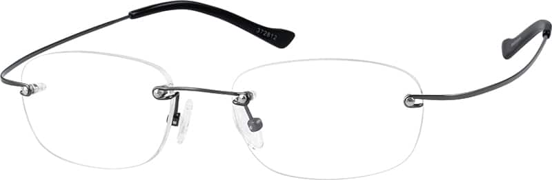 Grey 3728 Rimless Hingeless Titanium Frame.