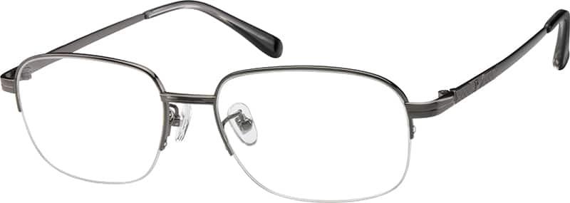 MenHalf RimTitaniumEyeglasses #372911