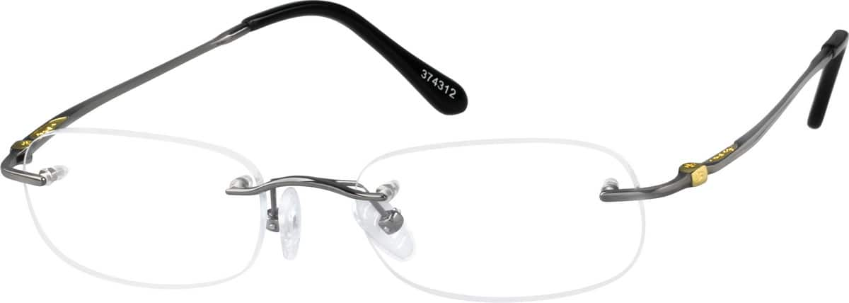 Grey 3743 Rimless Pure Titanium Frame