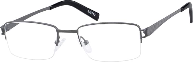MenHalf RimTitaniumEyeglasses #375712