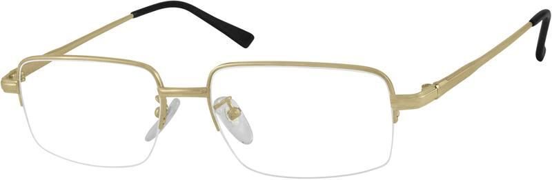 MenHalf RimTitaniumEyeglasses #375812