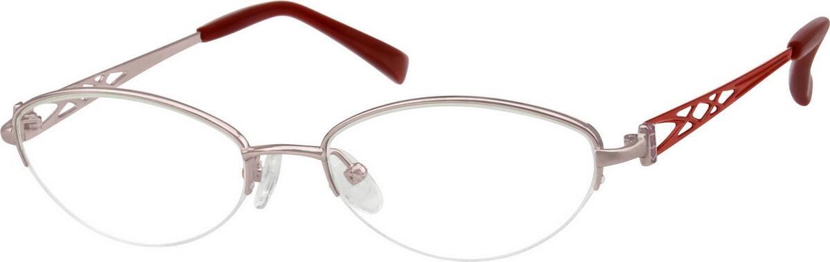 WomenHalf RimTitaniumEyeglasses #376715
