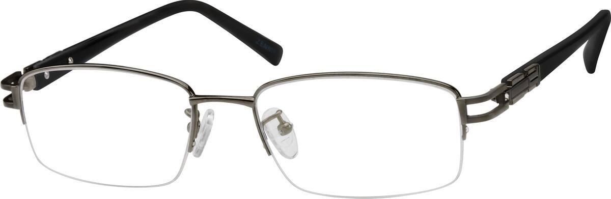 MenHalf RimTitaniumEyeglasses #377712