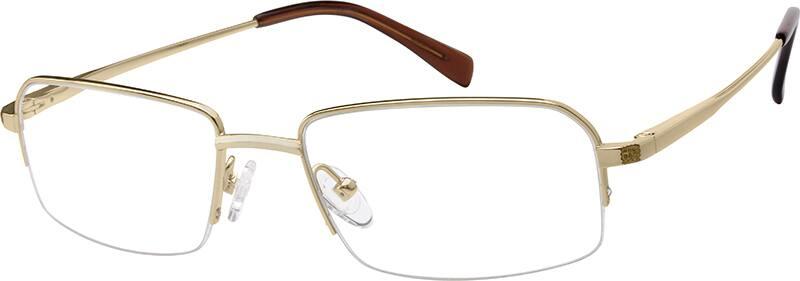 MenHalf RimTitaniumEyeglasses #378514