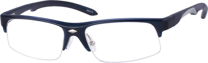 Men Half Rim Acetate/Plastic Eyeglasses #383316