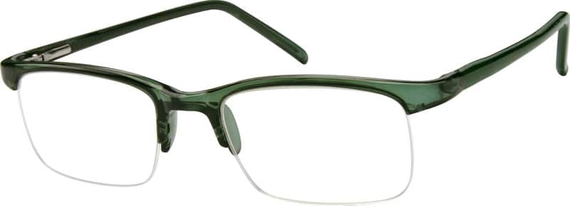 Men Half Rim Acetate/Plastic Eyeglasses #387534