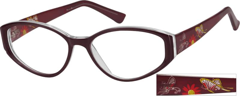 Women Full Rim Acetate/Plastic Eyeglasses #388618