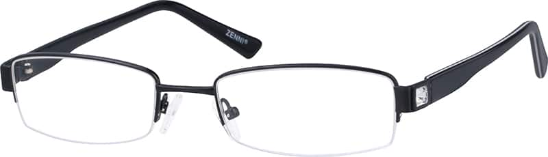 WomenHalf RimMixed MaterialsEyeglasses #391411
