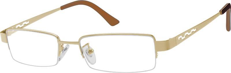 MenHalf RimStainless SteelEyeglasses #392515