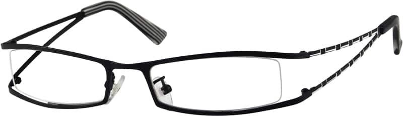 WomenHalf RimStainless SteelEyeglasses #393321