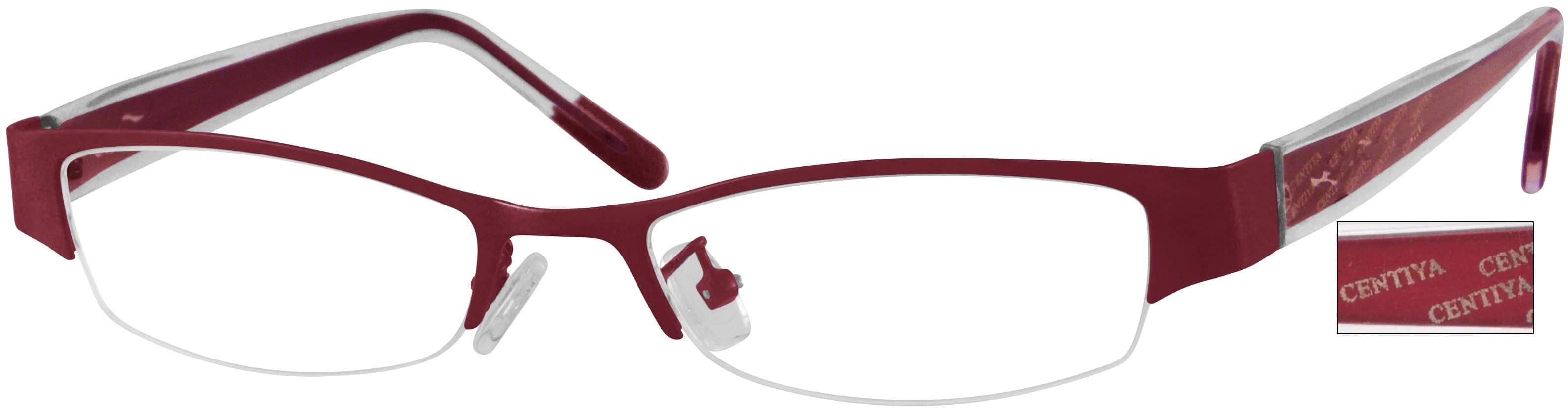 WomenHalf RimMixed MaterialsEyeglasses #397116