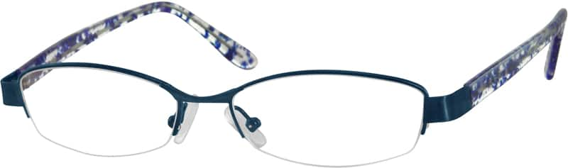 Women Half Rim Mixed Materials Eyeglasses #397716