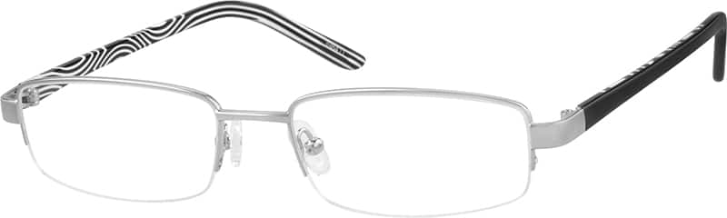 398411-stainless-steel-half-rim-frame-with-acetate-temples