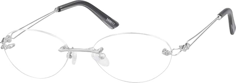 Women Rimless Stainless Steel Eyeglasses #399011