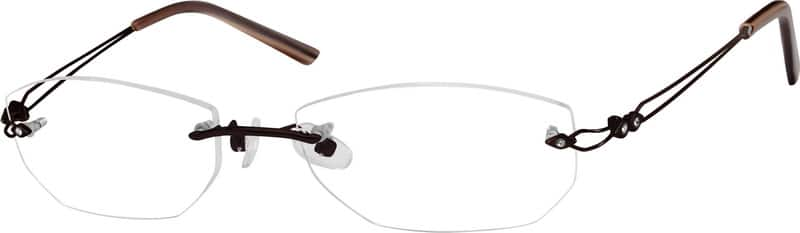 Brown 3990 Rimless Stainless Steel Frame