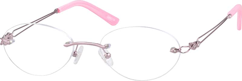 Pink 3990 Rimless Stainless Steel Frame
