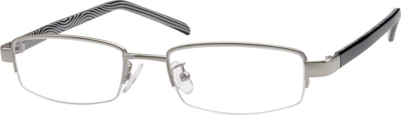 Women Half Rim Mixed Materials Eyeglasses #399616