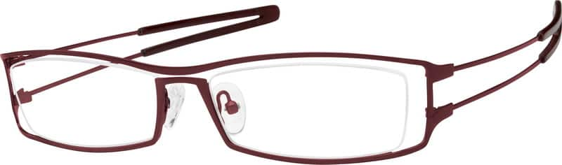 Women Full Rim Stainless Steel Eyeglasses #400619