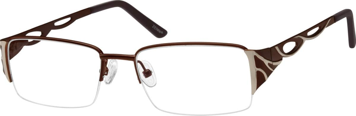 Men Half Rim Stainless Steel Eyeglasses #402615