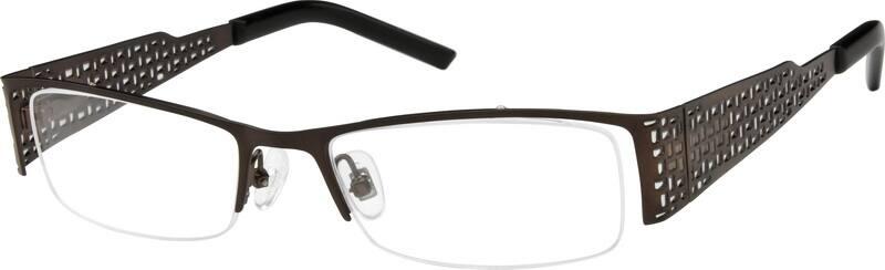 UnisexHalf RimStainless SteelEyeglasses #403121