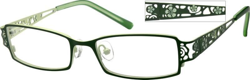 GirlFull RimStainless SteelEyeglasses #403318