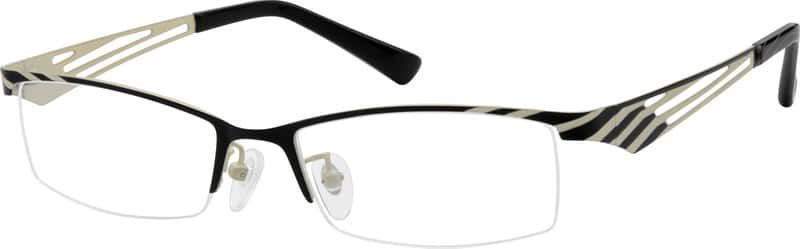 Women Half Rim Stainless Steel Eyeglasses #403721