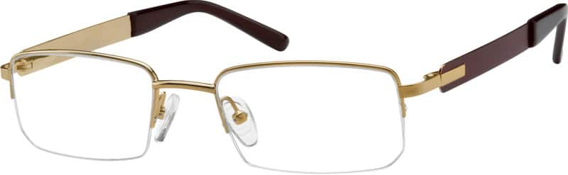 Men Half Rim Stainless Steel Eyeglasses #404314