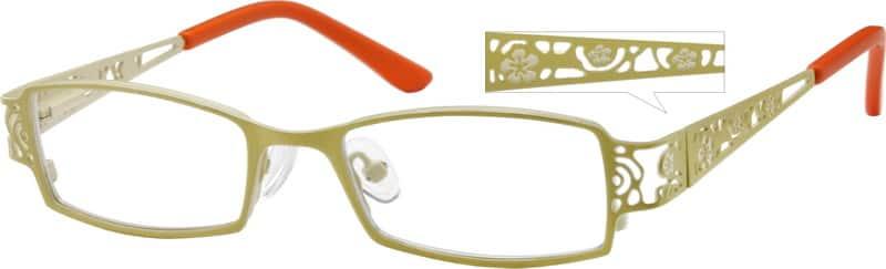 GirlFull RimStainless SteelEyeglasses #404921