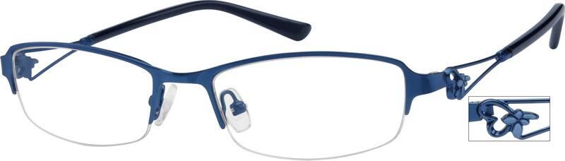 WomenHalf RimStainless SteelEyeglasses #406016