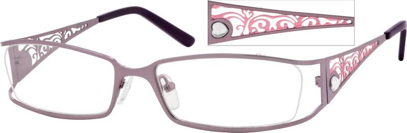 Women Full Rim Stainless Steel Eyeglasses #408117