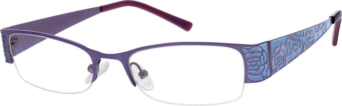 WomenHalf RimStainless SteelEyeglasses #408815