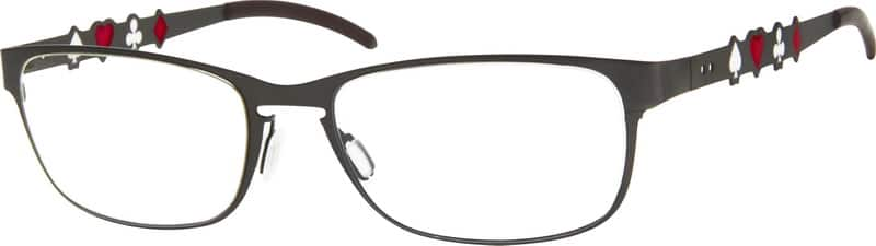 UnisexFull RimStainless SteelEyeglasses #409021