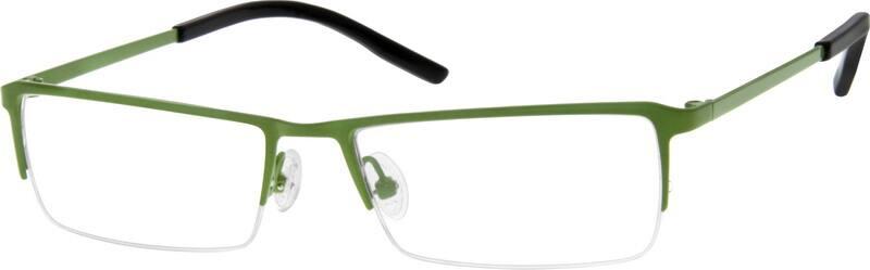MenHalf RimStainless SteelEyeglasses #409521