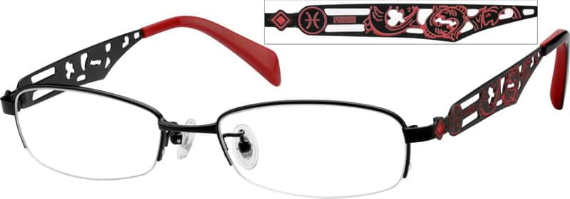 Women Half Rim Stainless Steel Eyeglasses #410421